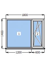 Вікно Стеко S 600 1800 х 1400