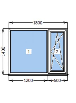 Окно Rehau Euro-60 1800х1400