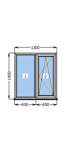 Вікно Стеко S 500 1300х1400
