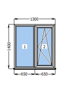 Окно Rehau Euro-60 1300х1400